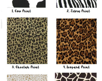 Animal Print fabrics for you custom made orders