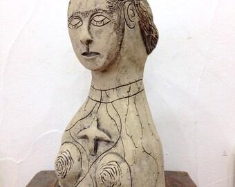 Frida Kahlo Clay Sculpture