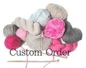 Custom for Jasmina - Cashmere Hat & Scarf Set