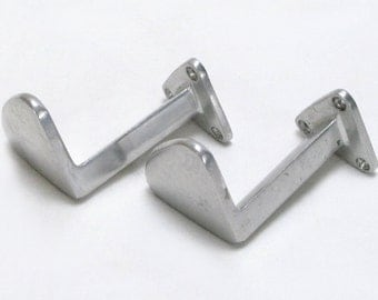Coat Hooks, Art Deco Hooks, Pair of French Coat Hooks, French coat hooks, Coat Hook, French Wall Hook, Aluminium Coat Hooks (049)