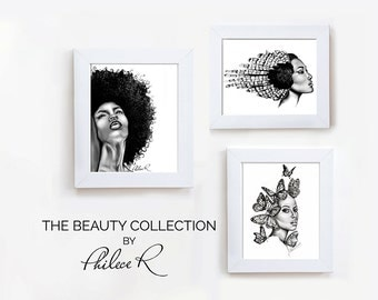 Set of 3 Art Prints | The Beauty Collection