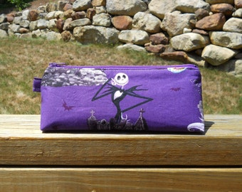 Pencil Case, Nightmare Before Christmas Pencil Case, Jack Skellington Pencil Pouch, One of a Kind