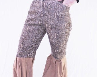 Up Cycled Paisley Flare Fancy Pants