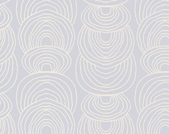 Ripple in Gray - Rain Walk (Canvas) - Anna Graham - Cloud 9 Fabrics - Organic Cotton - 1 Yard