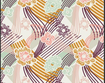 Art Gallery Fabric - PATRICIA BRAVO - Summer Love Collection - SunKissed Palette - Swept Away in Serenity (1 Yard)