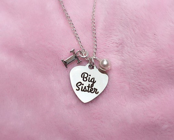 Big sister necklace-gift from little by sugarontopjewelry on Etsy