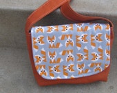 Organic Mini Messenger in Foxes and Sweet Potato