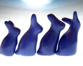 DaBerryBunz bunnies rabbits family sculpture OOAK hand made polymer clay decoration Easter love
