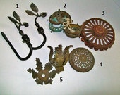 Vintage Salvaged Lamp Parts Cast Iron Metal Brass YOUR CHOICE