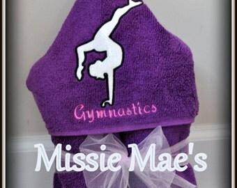 Gymnastics Hooded Towel - Gymnast Towel