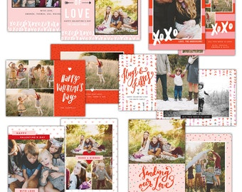 INSTANT DOWNLOAD -  Valentine Photoshop Cards Bundle- E1186