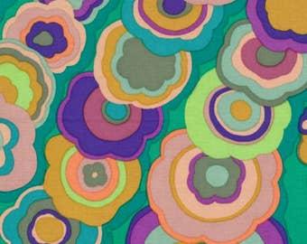 LAST ONES!!  1/2 Yard Kaffe Fassett 100% Cotton Quilt Fabric - Kite Tails - Emerald - GP122