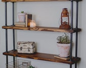Gail's (Add on a shelf) Black Metal and Wood Shelves