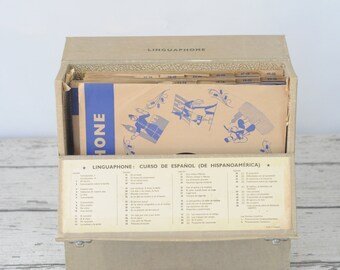 Linguaphone Spanish Teaching Course 78 RPM Records & Case