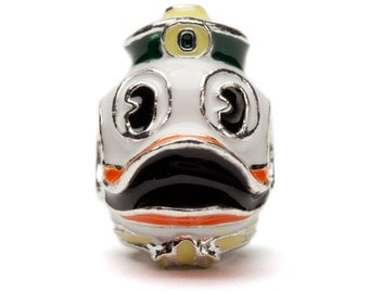 Oregon Ducks Mascot Bead Charm - Officially Licensed by University of Oregon