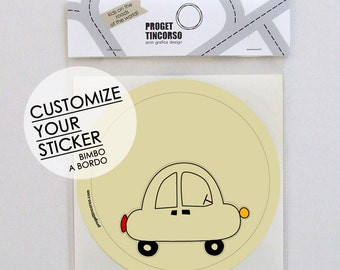 Customize your sticker baby on board - Italian or English version