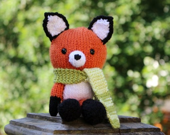 Knitted Fox Doll - Amigirumi Toy