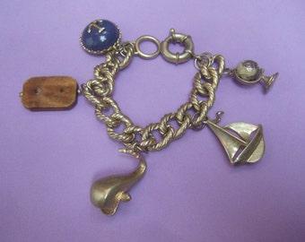 Nautical Theme Dangling Charm Bracelet