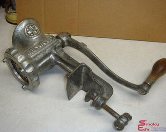 Vintage 1920's The Griswold Mfg. Co. No 2 Table Mount Meat Grinder • Erie, PA