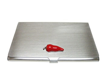 Red Chili Pepper Business Card Holder