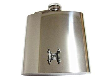 Torah Religious Scroll 6 oz. Stainless Steel Flask