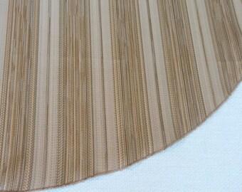 "Gold Stripe 28"" Slim Tree Skirt, Gold Stripe, Matte Stripe, Satin Stripe, American Made, Free Shipping"