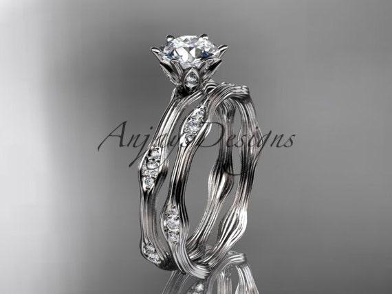 14kt white gold diamond wedding ring, engagement ring, engagement set ADLR132S