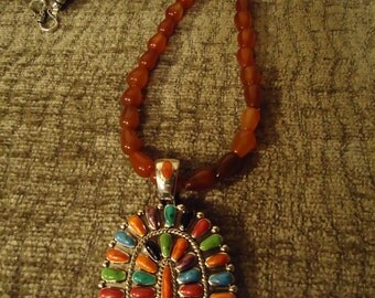 Boho Native Southwestern, Mexican, Morning Story Necklace