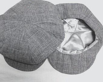 Textured Grey Newsboy beret hat, Grey color  boy hat, beret for boys