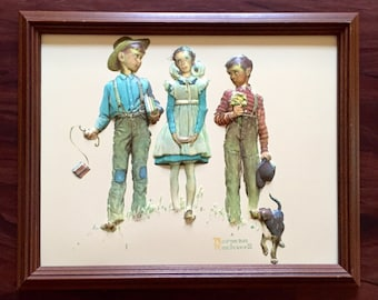 Norman Rockwell Print - 3D Vaccuum Formed - Framed Wall Art