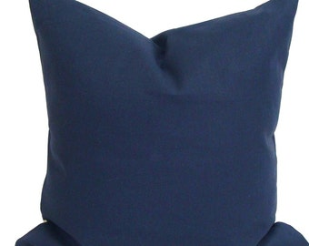SOLID NAVY PILLOW.20x20 inch.Pillow Cover. Decorative Pillows.Housewares.Solid Blue.Solid Navy Blue Pillow Cover.Housewares.Pillow.Cushion