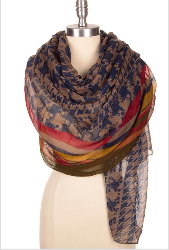 houndstooth infinity scarf scarves womens scarves womens