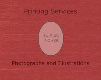 Fine Art Printing 16 X 20 Print Custom Printing Services -Artist's Printing Services Archival Printing -Large Wall Art Decor