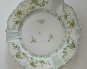 Vintage Soft Green Shabby Chic Plate for Display~Farmhouse~Cottage~BoHo