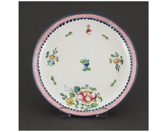 English Porcelain Plate C.1780-90 [EP-H]