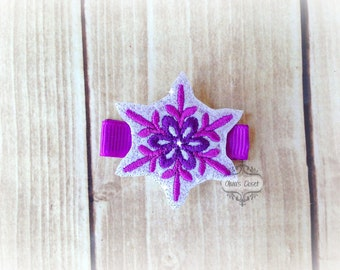 Snowflake hair clip Christmas Snowflake Hair Clippie Pick one or two. Pick Left side or Right.