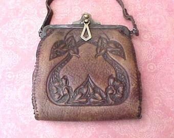 Art Nouveau Era Leather Handbag for Craft Project