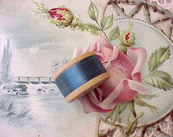 Vintage Wooden Spool of Silk Thread by Belding Corticelli