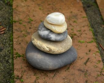 Natural Beach Stone Stack 5 (7) Ocean Rock Set Zen Stones Zen Garden Sculpture Meditation Gift Beach Home Decor Therapy