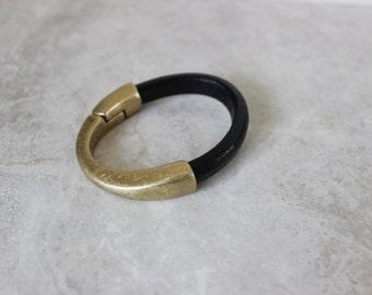 Genuine Leather Bracelet, Leather Cuff, Stacking Bracelet