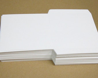 Blank White DIY CD Sleeve - Sets of 10, 25, 50 or 100