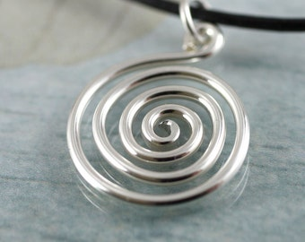 Celtic Spiral Pendant in Sterling Silver