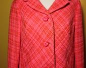 Vintage 60's Jenny Banta Pink Jacket