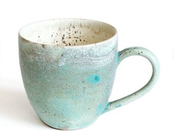 Handmade Ceramic Mug - Pottery mug - Stoneware Mug - Wheel Thrown Pottery Mugs