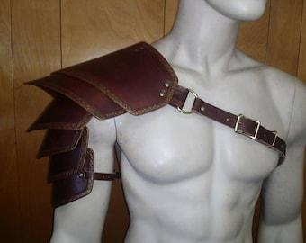Leather Armor Sentinel 2 six piece segmented shoulder