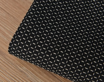Black Plaid Cotton Fabric MJ462