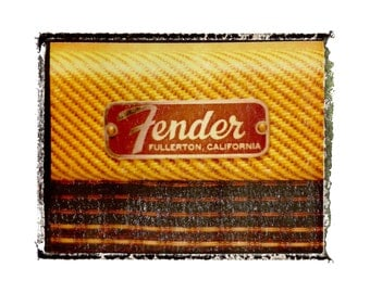 Fender tweed guitar amp  art print / music gift / rock n roll art / music room decor / guitar gift / man cave art