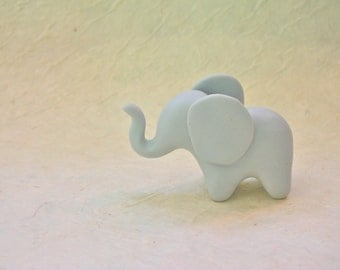 Lucky Baby Elephant - fimo polymer clay figure cake topper baby shower totem