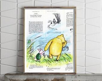 Paper Print of Winnie the Pooh & Piglet Classic