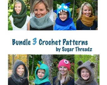 BUNDLE 3 CROCHET PATTERNS and Save